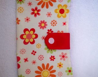 Original checkbook with summer colors