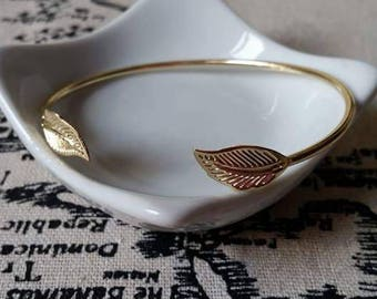 Bangle gold leaf 6 cm