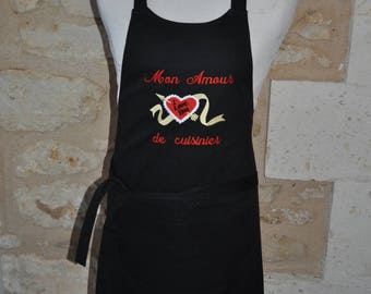 APRON SPECIAL VALENTINE'S NAME EMBROIDERED