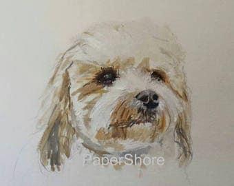 Your Dog. Original Painting. Custom Portrait. Pet Portrait.