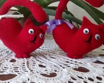 Cat - red heart crochet