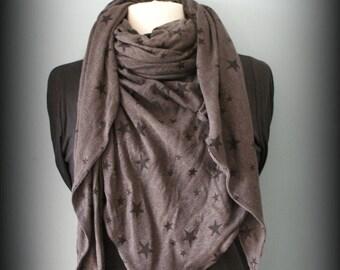 Trendy Brown Stars stole scarf shawl scarf cheich