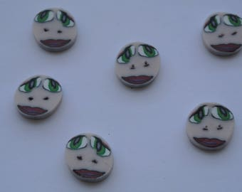 lot consists of six buttons face