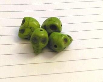 """Set of 4 """"skull"""" beads"""