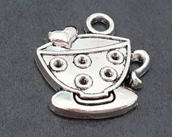 charm pendant coffee 18 mm x 5 charm Cup of hot chocolate