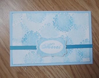"""Thank you"" card, scrapbooking."