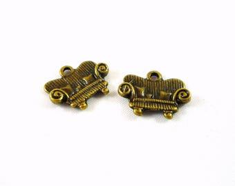 retro sofa 10 charms, bronze, 15mmX12mm (bre110)