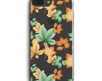 Autumn leaves iPhone case, fall phone case, iPhone 6s, iPhone 6 + case, iPhone 7 case, iPhone 7 + case, transparant phone case, iPhone 5
