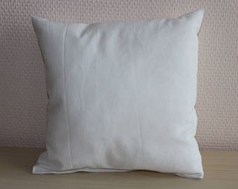 cushion - 24 x 24 cm - white - fabric 100% cotton