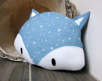 Cushion decorative Fox starry light jeans