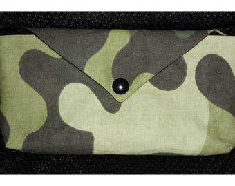 Camouflage for phone or sunglasses pouch