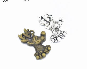 2 charms pendant deer 29 x 20 mm within 15 days