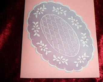 card any occasion in pergamano Rainbow