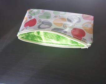 Apple purse pattern laminated cotton and cotton