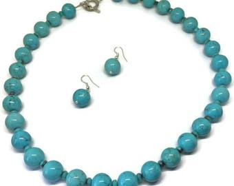 Turquoise Necklace and Earring
