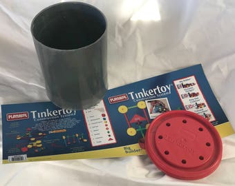 Vintage Tinkertoy can reproduction/toy podium
