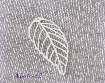 1 sheet - pendant / charm 3 CM - sterling silver