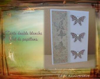 HB-2017-005 - birthday card - flight of butterflies