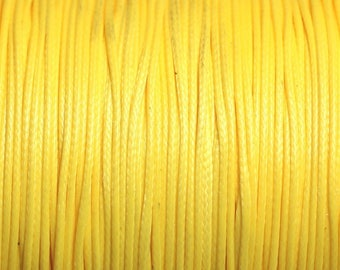 10 m - 0.8 mm 4558550000347 yellow wax cotton cord