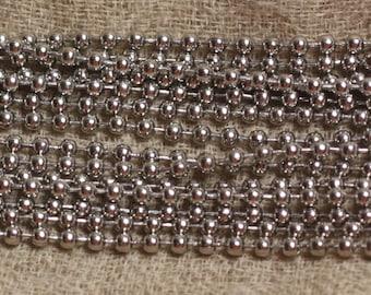 2 m - 316 L steel chain - 2.4 mm - 4558550030832 balls beads