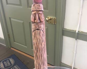 Hand carved Large Santa