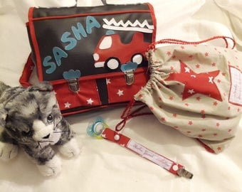 Slippers pacifier kit bag Briefcase back native fire design