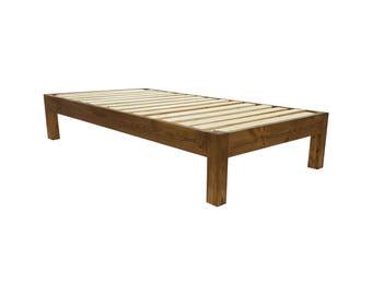 Platform Bed, Four Post Platform Bed, Queen Bed, Low Profile Bed