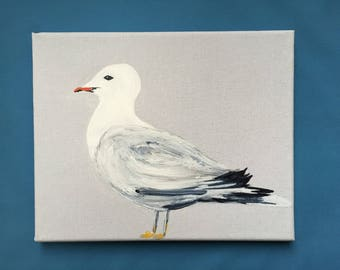"Customizable painting ""The Seagull"" a deco seaside vacation home!"