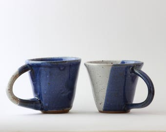 Blue and White Ceramic Mug Set