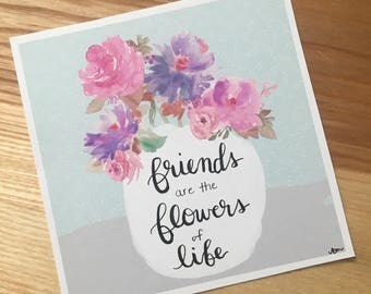 Friends - Hand Lettered Drawing
