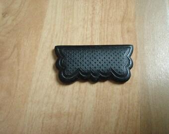 decorative black plastic belt buckle
