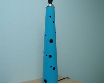 "Blue plastic lamp base ""oxygen"""