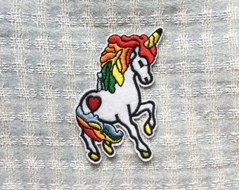 Unicorn Patches - Iron on Patch, Sew On Patch, Embroidered Patch