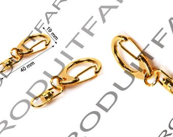 Set of 10 clasps lobster Keyring loops swivel 19 mm color gold jewelry necklace pendant