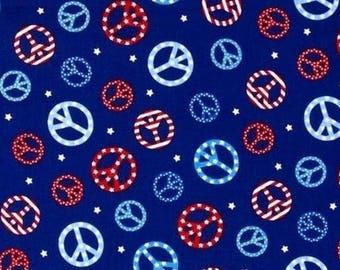 Patchwork fabric patriotic Dragon blue