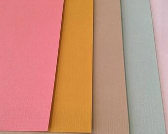 Set of 5 sheets of 21 cm x 15 cm textured metal, scrapbooking