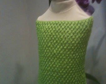 "Strapless crochet 1 4/6 years old ""green"" Tinkerbell tutu dress"
