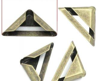 Corner deco style Art deco C 2.3 brass tone set of 4 cm