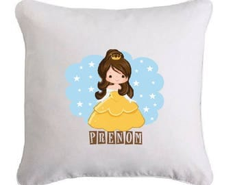 Princess pillow personalized with name
