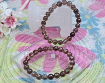 Natural smoky Quartz gemstone bracelet