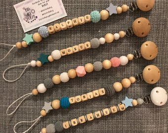 Personalised wooden dummy clips 18