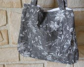 Sac pliable, tote bag, sac shopping reversible