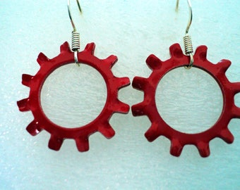 Large Star Lock Washer Earrings