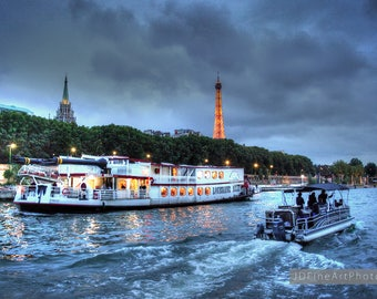 An Evening Cruise on the Seine