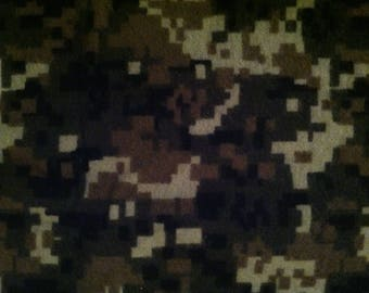 Pixel Camo flannel fabric by the half yard