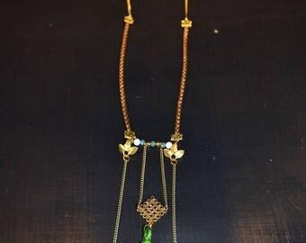 "Origami Japanese paper ""Spring Matsuri"" necklace"