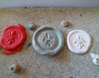 silicone mold wax seal fleur de lis for fimo wepam