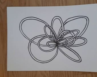 Abstract Drawing, Black & White - Loop 5