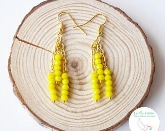 """""""Two Suns"""" tassel earrings"""