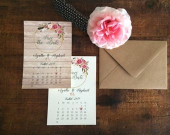 Card / Invitation Save the Date / country wedding